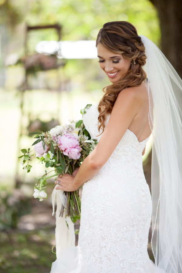 Bride with Bouquet | 59&Bluebell Weddings and Events