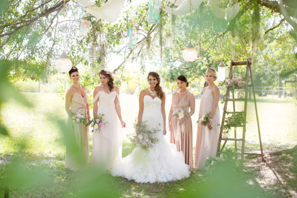Bride with Her Brides-Mates | 59&Bluebell Weddings and Events