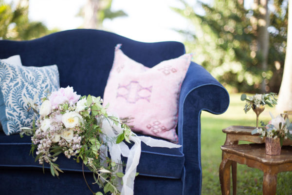Classic and Rustic Furniture Outside | 59&Bluebell Weddings and Events