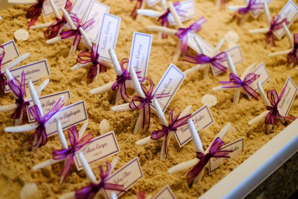 Starfish Wedding Table Assignment Numbers | 59&Bluebell Weddings and Events