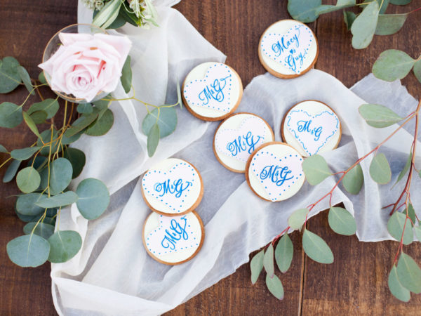 Cookies spread on Wedding Table | 59&Bluebell Weddings and Events