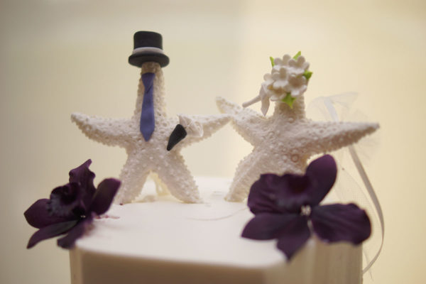 Starfish Bride and Groom Wedding Cake Topper | 59&Bluebell Weddings and Events