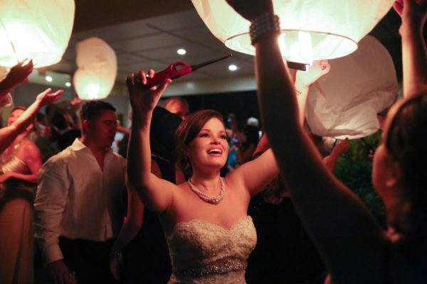 Newly Bride Lighting Chinese Lantern | 59&Bluebell Weddings and Events