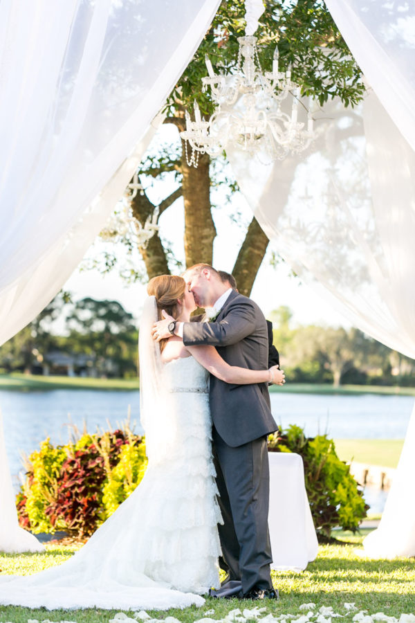 Husband and Bride First Kiss | 59&Bluebell Weddings and Events