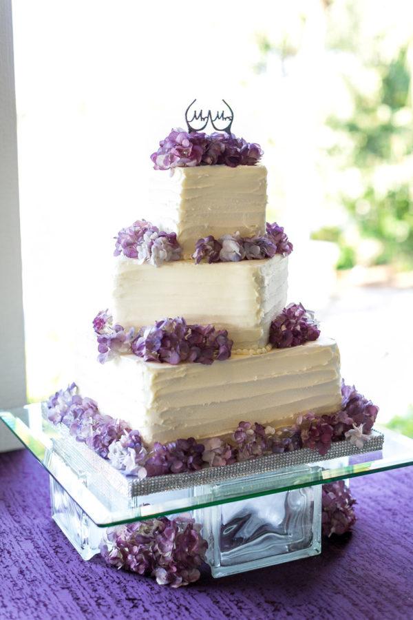 Purple Wedding Cake | 59&Bluebell Weddings and Events