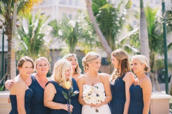 Bride and Brides Mates Smiling and Laughing Together | 59&Bluebell Weddings and Event