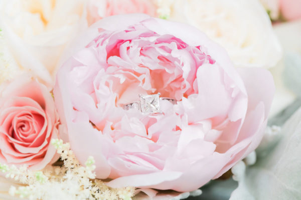 Wedding Ring inside a Rose | 59&Bluebell Weddings and Events