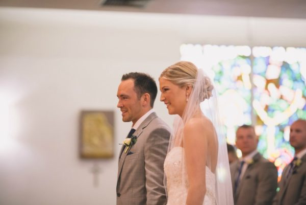 Bride and Groom Side by Side Listening to Vows | 59&Bluebell Weddings and Event