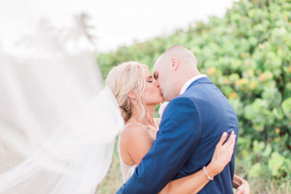 Husband and Wife First Kiss | 59&Bluebell Weddings and Events