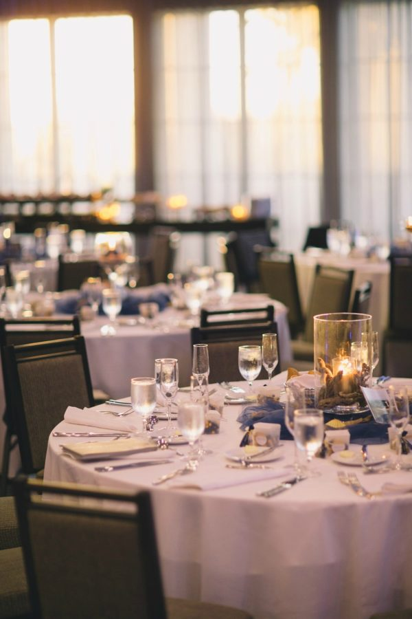 Decorated Tables at Wedding Reception | 59&Bluebell Weddings and Event