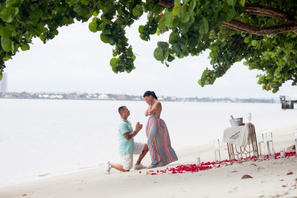 Boyfriend Proposes to Girlfriend at the Beach | 59&Bluebell Weddings and Events
