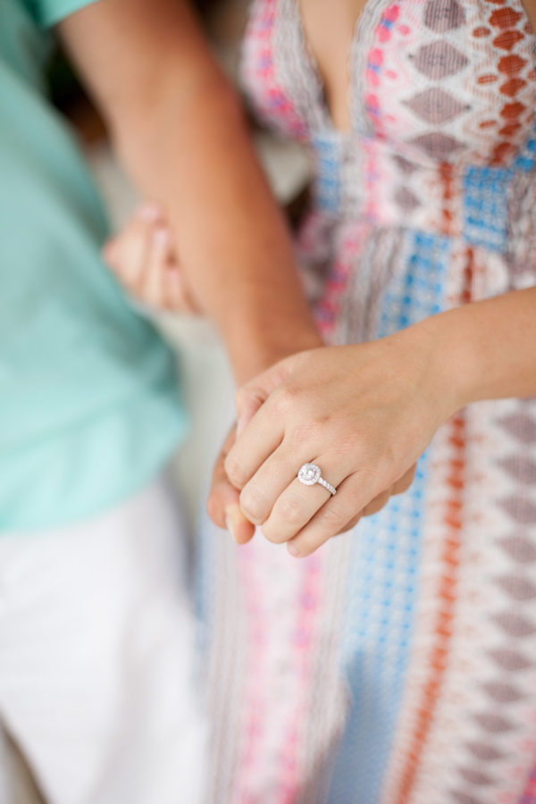 FiancéE Showing Her New Engagement Ring | 59&Bluebell Weddings and Events