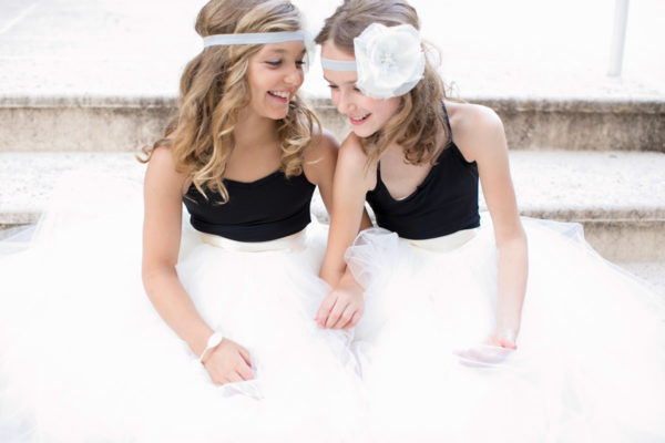 2 Flower Girls Smiling | 59&Bluebell Weddings and Events