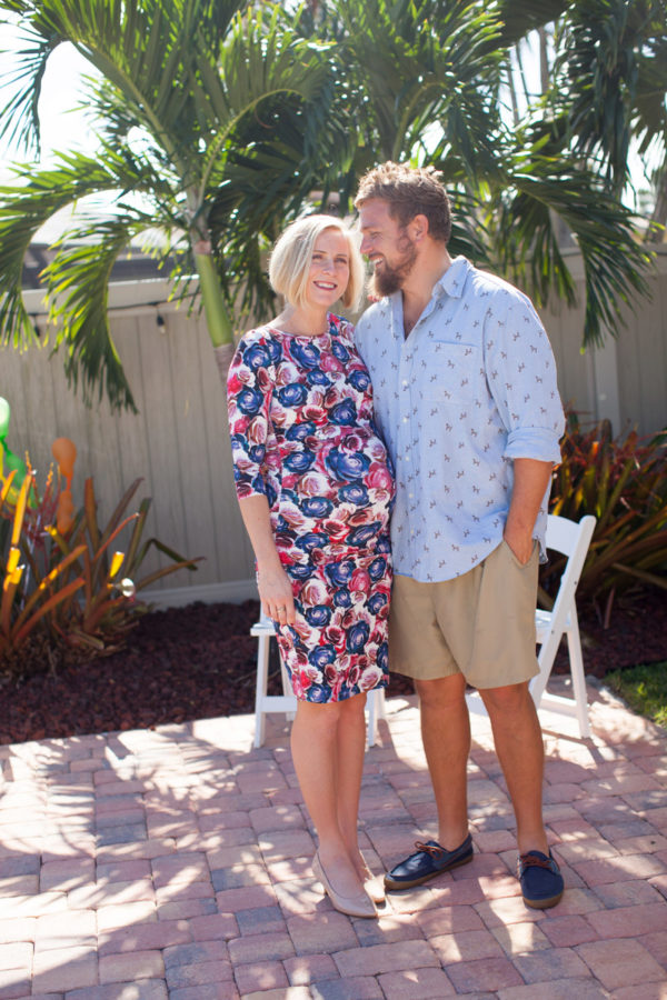 Husband and Wife Smiling at Baby Shower | 59&Bluebell Weddings and Events