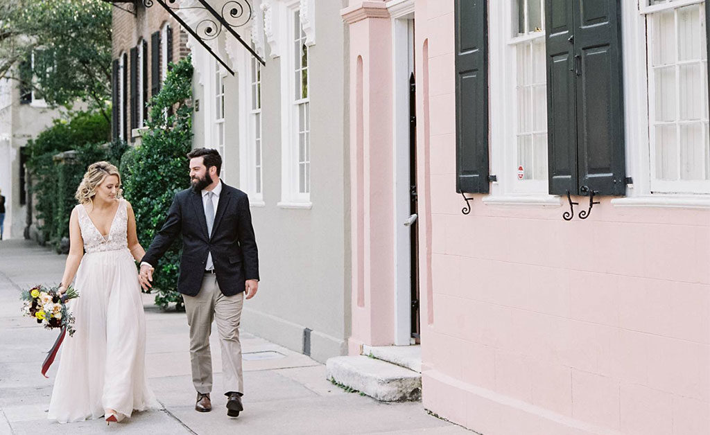 Bride and Groom Charleston Elopement | 59&Bluebell Weddings and Events